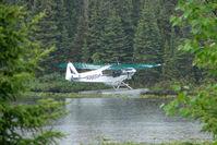 N9651P @ L85 - 1974 Piper PA-18-150, c/n: 18-7409142 on Mackey Lake Soldotna
