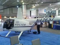 N42657 - Police helicopter on display at the Airborne Law Enforcement Association convention, Tucson Convention Center, Tucson AZ.