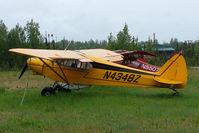 N4348Z @ L85 - 1968 Piper PA-18-150, c/n: 18-8645 landstrip near Mackey Lake Soldotna