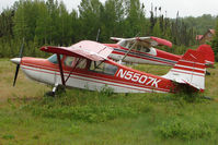 N5507K @ L85 - 1978 Bellanca 7GCBC, c/n: 1042-78 at  a landstrip near Mackeys Lake Soldotna