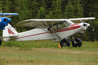 N4KB @ L85 - 1971 Piper PA-18-150, c/n: 18-8950 landstrip near Mackeys Lake Soldotna