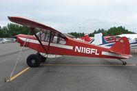 N116FL @ LHD - 1974 Piper PA-18-150, c/n: 18-7509029 at Lake Hood - by Terry Fletcher