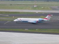 OE-LCJ @ EDDL - Austrian, Canadair CL-600-2B19 Regional Jet CRJ-200LR, CN: 7142, Aircraft Name: Hannover - by Air-Micha