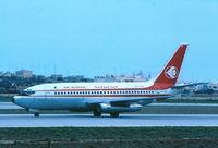 7T-VEK @ LMML - B737-200 registered 7T-VEK seen in Malta moments after landing on Runway32 back in 1983.... - by raymond
