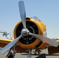 N7044L @ POC - Radial engine in the T-28B - by Helicopterfriend