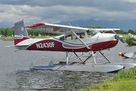 N2430F @ LHD - 1965 Cessna 180H, c/n: 18051630 at Lake Hood