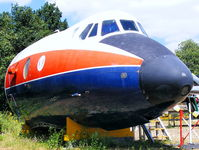 XT575 @ EGLB - nose section of this former Royal Aircraft Establishment Viscount preserved at the Brooklands Museum - by Chris Hall