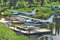N9188M - 1970 Cessna U206E, c/n: U20601588 docked on a lake near Talkeetna AK