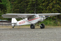 N83508 - Piper PA-18-150, c/n: 18-7709054 by the roadside on K-Beach Road Soldotna AK