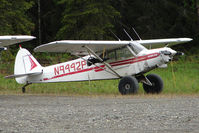 N9442P - 1974 Piper PA-18-150, c/n: 18-7409129 noted by the roadside at K-Beach Road , Soldotna AK
