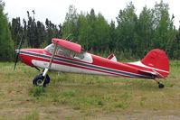 N3452C @ 7L8 - 1954 Cessna 170B, c/n: 26495 at Mackey Lake landstrip