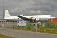 N500UA @ PAEN - Universal Airlines Douglas DC-6A, c/n: 44597 at Kenai