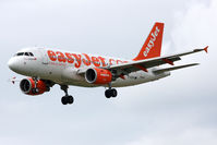 G-EZDF @ EGNT - Airbus A319-111 on finals to 25 at Newcastle Airport in June 2010. - by Malcolm Clarke