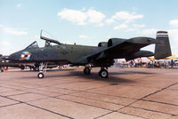 81-0979 @ MHZ - A-10A Thunderbolt of 509th Tactical Fighter Squadron/10th Tactical Fighter Wing on display at the 1990 RAF Mildenhall Air Fete. - by Peter Nicholson