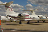 4X-CPX @ EGGW - Gulfstream 1159C at Luton - by Terry Fletcher