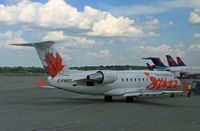 C-FWRT @ KMSP - A Canadian regional jet prepares for its journey back north from Minneapolis. - by Daniel L. Berek