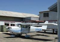 N7042E @ SZP - 1960 Cessna 175A SKYLARK, Continental GO-300-E 175 Hp, geared engine with deeper cowl than a C172. - by Doug Robertson