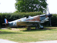 N3310 @ EGBW - Replica Spitfire IX at the Wellesbourne Wartime Museum, now with its prop refitted - by Chris Hall