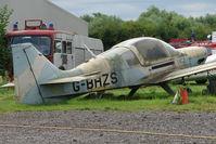 G-BHZS @ EGBD - 1980 British Aerospace BULLDOG SERIES 120 MODEL 1210, c/n: BH120/411 WFU at Derby Eggington
