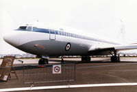 A20-103 @ EGDM - Boeing 707-368C, callsign Embassy 198, of 33 Squadron Royal Australian Air Force on display at the 1990 Boscombe Down Battle of Britain 50th Anniversary Airshow. - by Peter Nicholson