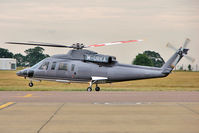 M-URKA @ EGGW - Sikorsky 76B departs from Luton - by Terry Fletcher