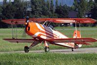 D-EFIX @ LOLW - 100 years Airfield Wels-CASA 1-131E Jungmann - by Delta Kilo