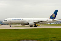 N12125 @ EGCC - Continental's 1998 Boeing 757-224, c/n: 28967 at Manchester UK