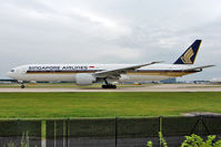 9V-SWD @ EGCC - Singapore Airlines 2006 Boeing 777-312ER, c/n: 34569 departs from Manchester UK