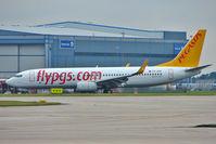TC-AAV @ EGCC - Pegasus 2010 Boeing 737-82R WL, c/n: 40696 at Manchester UK