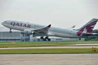 A7-ACK @ EGCC - Qatar Airways 2006 Airbus A330-202, c/n: 792 lifts off from Manchester UK