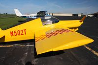 N502T @ DLZ - On the ramp at Delaware, Ohio during the EAA fly-in breakfast. - by Bob Simmermon