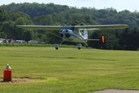 N111GZ @ 2D7 - Arriving at the Father's Day breakfast fly-in, Beach City, Ohio. - by Bob Simmermon