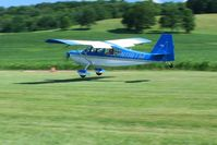 N118TM @ 2D7 - Arriving at the Father's Day breakfast fly-in, Beach City, Ohio. - by Bob Simmermon