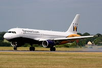 G-OZBK @ EGGW - Monarch Airlines - by Chris Hall