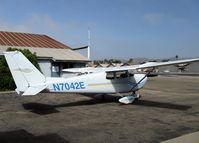 N7042E @ SZP - 1960 Cessna 175A SKYLARK, Continental GO-300-G, geared engine with deeper cowl than a C172 - by Doug Robertson