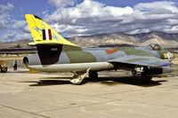 N72602 @ KMHV - this beautiful Hunter F Mk.5 crashed on January 8 2000 in the Mojave desert