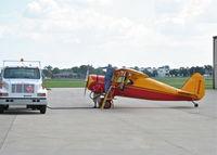 N2088 @ KDPA - Fairchild 24 G N2088 gassing up KDPA. - by Mark Kalfas