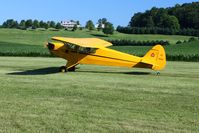N92451 @ 2D7 - Arriving at Beach City, Ohio during the Father's Day fly-in. - by Bob Simmermon