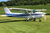 N96573 @ 2D7 - Arriving at Beach City, Ohio during the Father's Day fly-in. - by Bob Simmermon