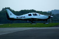 N1143Z @ I19 - Late Evening Arrival .... - by Allen M. Schultheiss