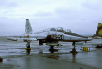 AE9-031 @ LEZG - We happened to get some non-Spanish rain during our visit to Zaragoza. The bare metal F-5 made it still worth spending a slide. - by Joop de Groot