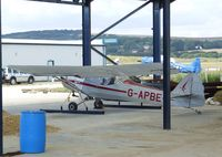 G-APBE @ EGKA - Auster 5 (minus propeller) in what should in the future develop into a hangar at Shoreham airport