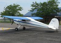 CF-HET @ KAXN - Cessna 120 at the fuel pump. - by Kreg Anderson