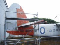 WF122 @ X3DT - Percival Sea Prince T.1 (undergoing restauration) at the AeroVenture, Doncaster