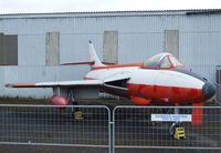 E-424 @ X3DT - Hawker Hunter F51 at the AeroVenture, Doncaster