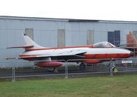 E-424 @ X3DT - Hawker Hunter F51 at the AeroVenture, Doncaster - by Ingo Warnecke