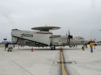 165824 @ NTD - Northrop Grumman E2C HAWKEYE of VAW-112, two Allison T56-A-8A 4,050 shp each - by Doug Robertson