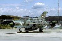243 @ LZSL - My very first Bulgarian MiG-21! In fact my very first Bulgarian aircraft... - by Joop de Groot