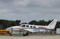 N100N @ KOSH - Beech 58P - by Mark Pasqualino