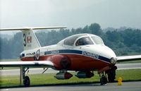 114152 @ RDG - CT-114 Tutor of the Canadian Snowbirds aerobatic display team which performed at the 1976 Reading Airshow. This aircraft flew as number 3 in the 1973 to 1976 display seasons. - by Peter Nicholson